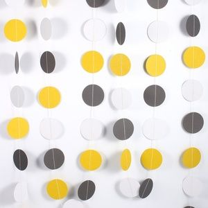 Colorful Paper Circle Garland, Fun Party Decor 🌸